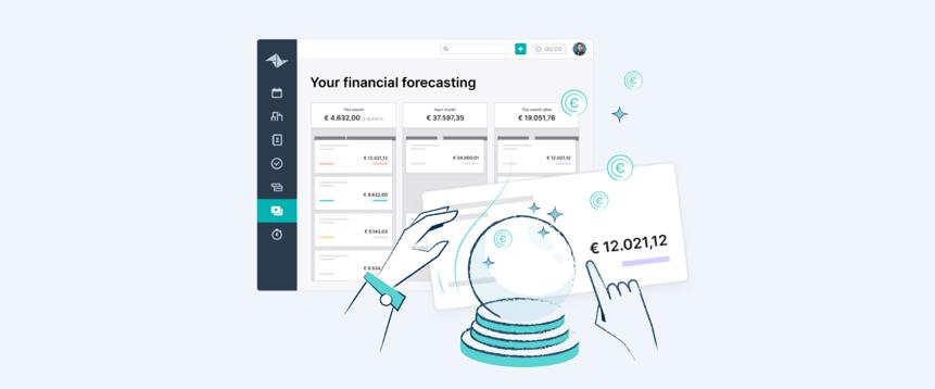 Prévoyez vos futurs revenus avec la fonctionnalité de prévisions financières de Teamleader