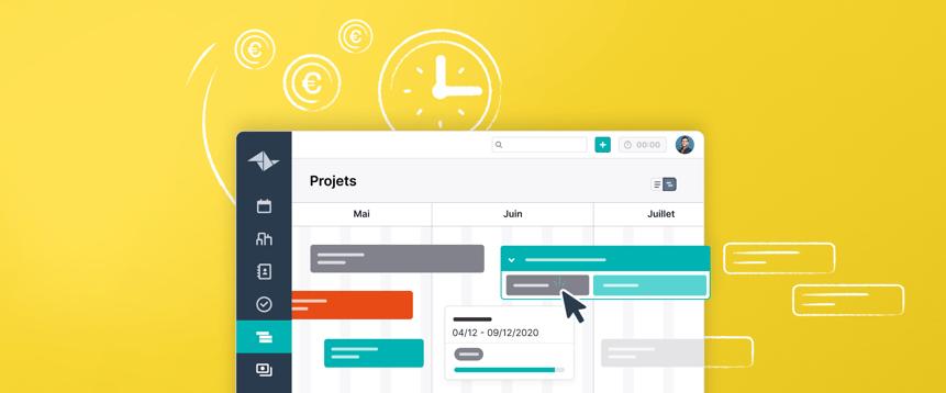 Préservez une vue d'ensemble grâce à la ligne du temps des projets de Teamleader